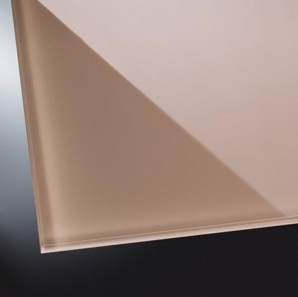 Lackiertes Glas glänzend | Light Brown 1236 | nach Maß