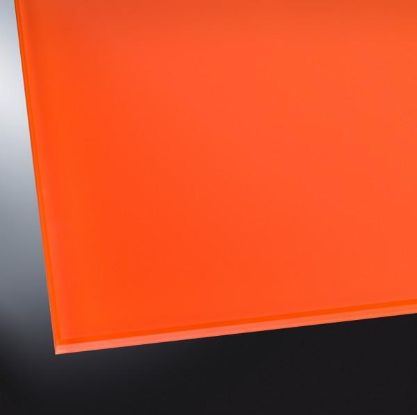 Lackiertes Glas matt | Classic Orange 2001 | nach Maß