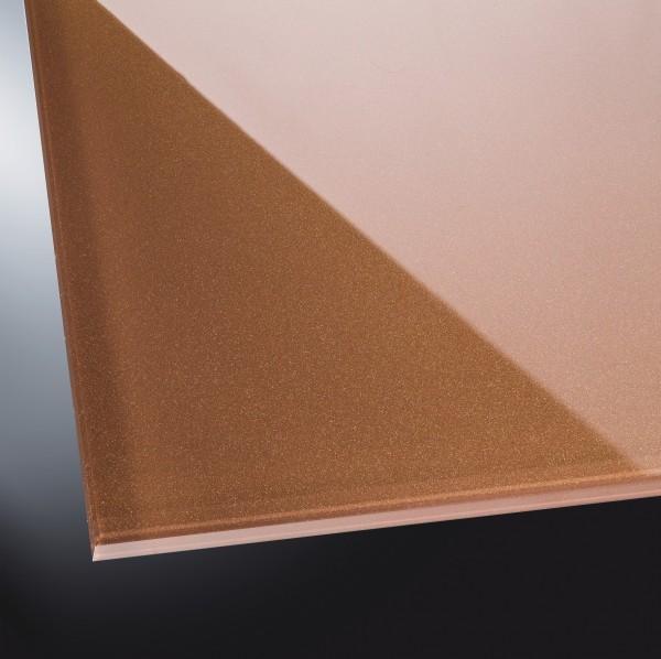 Lackiertes Glas glänzend | Metal Copper 9115 | nach Maß
