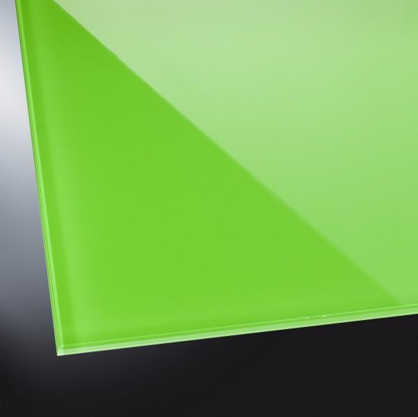 Lackiertes Glas glänzend | Luminous Green 1164 | nach Maß