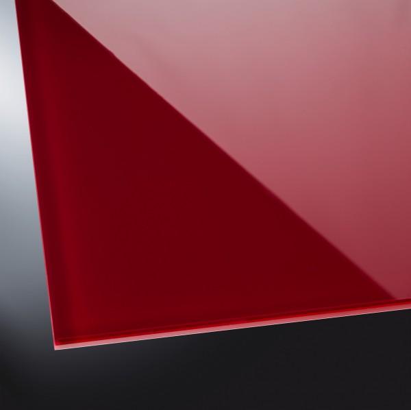ESG lackiertes Glas glänzend | Dark Red 3004