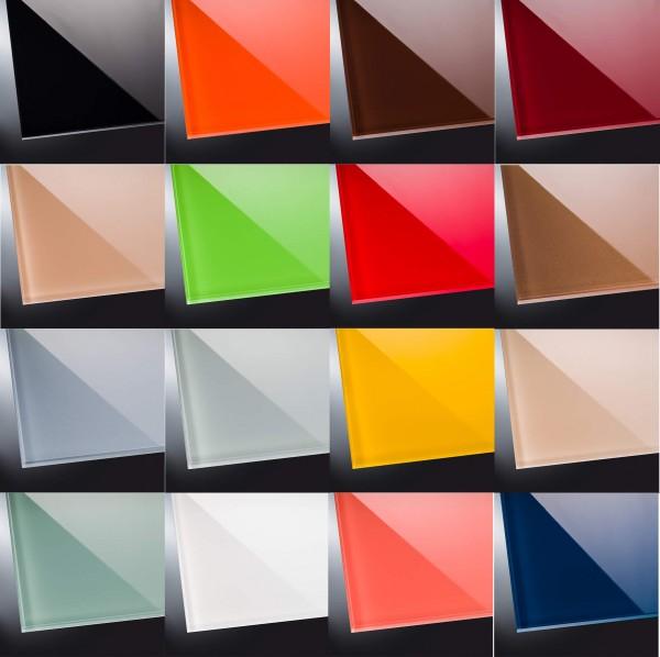 ESG lackiertes Glas glänzend | Ihre RAL-Farbe