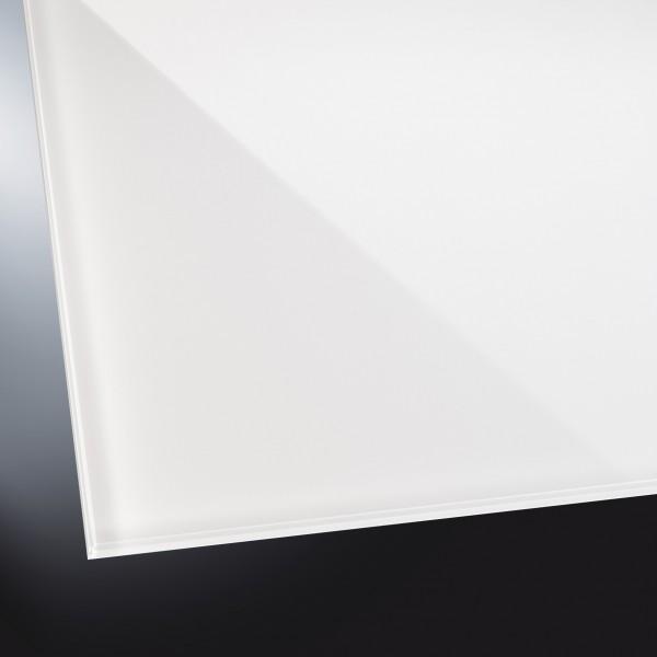 Lackiertes Glas glänzend | White Soft Extraweiß 9010 | nach Maß