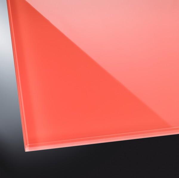 Lackiertes Glas glänzend | Terracotta Red 8815 | nach Maß