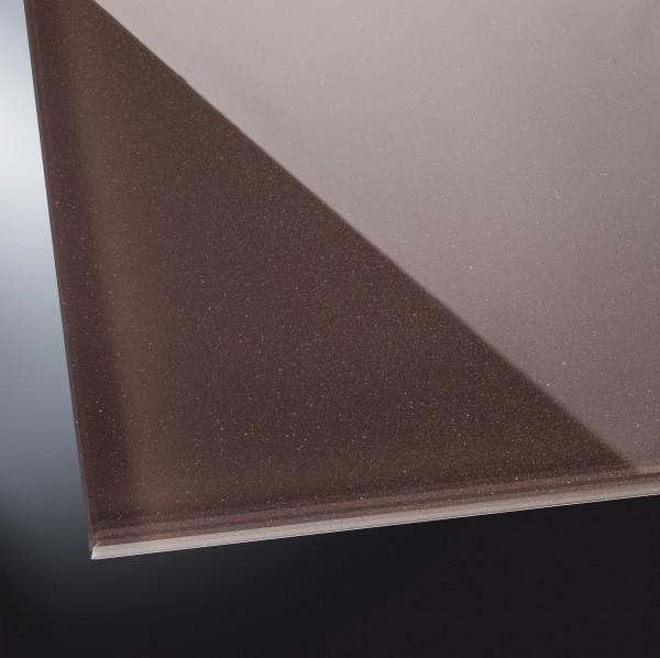 ESG lackiertes Glas glänzend | Starlight Brown 9015