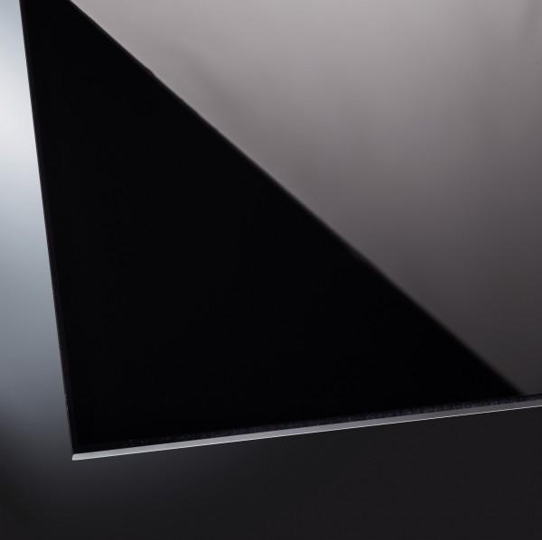 Lackiertes Glas glänzend | Classic Black 9005 | nach Maß