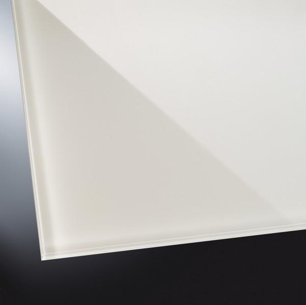 Lackiertes Glas glänzend | Soft White 9010 | nach Maß